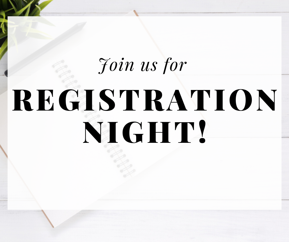 Join us for Registration Night